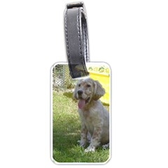 English Setter Orange Belton Puppy Luggage Tags (One Side)