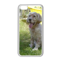 English Setter Orange Belton Puppy Apple iPhone 5C Seamless Case (White)
