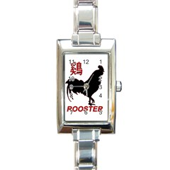 Year of the Rooster - Chinese New Year Rectangle Italian Charm Watch