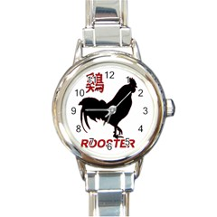 Year of the Rooster - Chinese New Year Round Italian Charm Watch