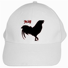 Year of the Rooster - Chinese New Year White Cap