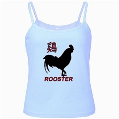 Year of the Rooster - Chinese New Year Baby Blue Spaghetti Tank