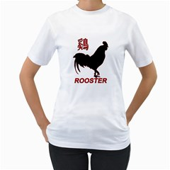 Year of the Rooster - Chinese New Year Women s T-Shirt (White) (Two Sided)