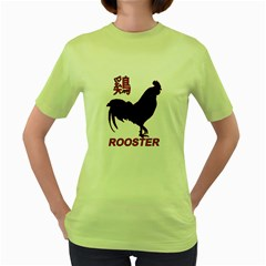 Year of the Rooster - Chinese New Year Women s Green T-Shirt