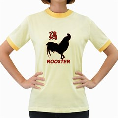 Year of the Rooster - Chinese New Year Women s Fitted Ringer T-Shirts