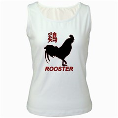 Year of the Rooster - Chinese New Year Women s White Tank Top