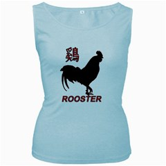 Year of the Rooster - Chinese New Year Women s Baby Blue Tank Top