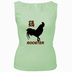 Year of the Rooster - Chinese New Year Women s Green Tank Top