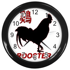Year of the Rooster - Chinese New Year Wall Clocks (Black)