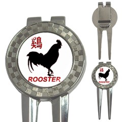 Year of the Rooster - Chinese New Year 3-in-1 Golf Divots