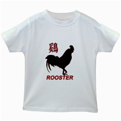 Year of the Rooster - Chinese New Year Kids White T-Shirts