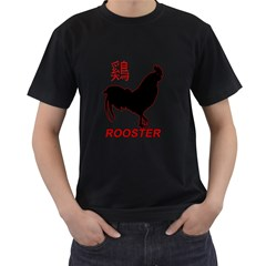 Year of the Rooster - Chinese New Year Men s T-Shirt (Black) (Two Sided)