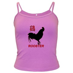 Year of the Rooster - Chinese New Year Dark Spaghetti Tank