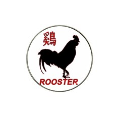Year of the Rooster - Chinese New Year Hat Clip Ball Marker (4 pack)