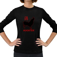 Year of the Rooster - Chinese New Year Women s Long Sleeve Dark T-Shirts