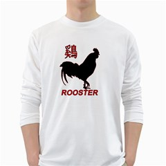 Year of the Rooster - Chinese New Year White Long Sleeve T-Shirts