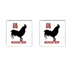 Year of the Rooster - Chinese New Year Cufflinks (Square)