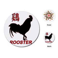Year of the Rooster - Chinese New Year Playing Cards (Round)