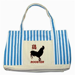 Year of the Rooster - Chinese New Year Striped Blue Tote Bag