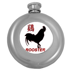 Year of the Rooster - Chinese New Year Round Hip Flask (5 oz)