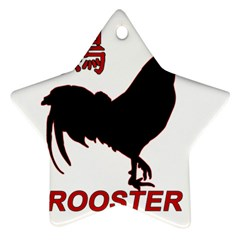 Year of the Rooster - Chinese New Year Star Ornament (Two Sides)