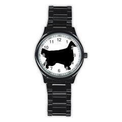 English Setter Silo Black Stainless Steel Round Watch