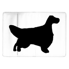 English Setter Silo Black Samsung Galaxy Tab 10.1  P7500 Flip Case