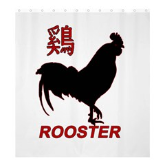 Year of the Rooster - Chinese New Year Shower Curtain 66  x 72  (Large)