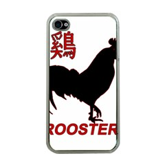 Year of the Rooster - Chinese New Year Apple iPhone 4 Case (Clear)