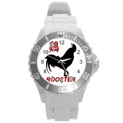 Year of the Rooster - Chinese New Year Round Plastic Sport Watch (L)