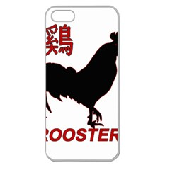 Year of the Rooster - Chinese New Year Apple Seamless iPhone 5 Case (Clear)