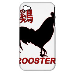Year of the Rooster - Chinese New Year Apple iPhone 4/4S Hardshell Case (PC+Silicone)