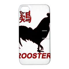 Year of the Rooster - Chinese New Year Apple iPhone 4/4S Hardshell Case with Stand