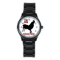 Year of the Rooster - Chinese New Year Stainless Steel Round Watch