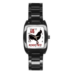 Year of the Rooster - Chinese New Year Stainless Steel Barrel Watch