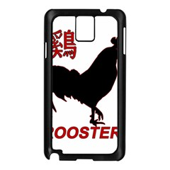 Year of the Rooster - Chinese New Year Samsung Galaxy Note 3 N9005 Case (Black)