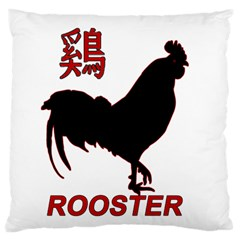 Year of the Rooster - Chinese New Year Large Flano Cushion Case (Two Sides)