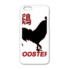 Year of the Rooster - Chinese New Year Apple iPhone 6/6S White Enamel Case