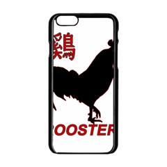 Year of the Rooster - Chinese New Year Apple iPhone 6/6S Black Enamel Case