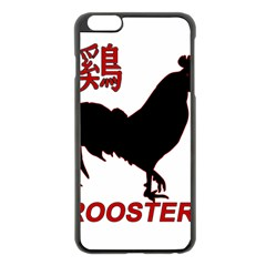Year of the Rooster - Chinese New Year Apple iPhone 6 Plus/6S Plus Black Enamel Case