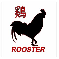 Year of the Rooster - Chinese New Year Large Satin Scarf (Square)
