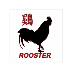 Year of the Rooster - Chinese New Year Small Satin Scarf (Square)
