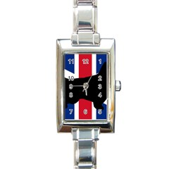 English Setter Silhouette United Kingdom Rectangle Italian Charm Watch