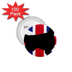 English Setter Silhouette United Kingdom 1.75  Buttons (100 pack)
