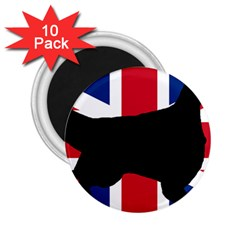 English Setter Silhouette United Kingdom 2.25  Magnets (10 pack)