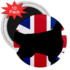 English Setter Silhouette United Kingdom 3  Magnets (10 pack)
