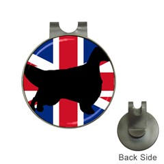 English Setter Silhouette United Kingdom Hat Clips with Golf Markers