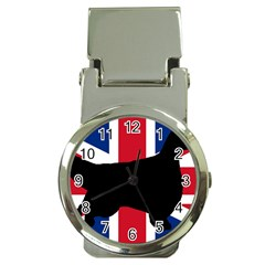 English Setter Silhouette United Kingdom Money Clip Watches
