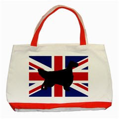 English Setter Silhouette United Kingdom Classic Tote Bag (Red)