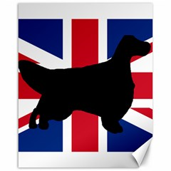 English Setter Silhouette United Kingdom Canvas 16  x 20